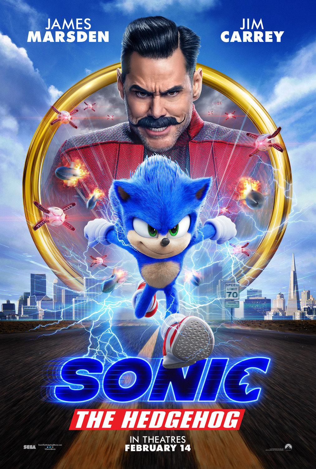 Sonic the Hedgehog [PG] Poster for Kookaburra Cinema